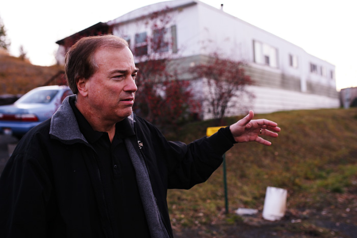 Moscow Police Chief David Duke explains the details of a fatal shooting in a mobile home on North Polk Street Extension, Sunday, Nov. 10.
