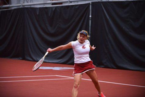 Cougar tennis dominates home matches
