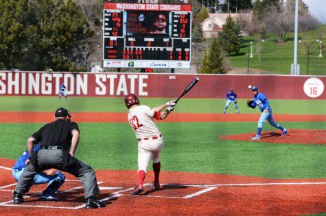 Rock 'em sock 'em; Cougar baseball takes series against Spartans