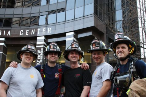 Pullman Fire Department personnel pose for a photo during the 23rd Annual Scott Firefighters Stairclimb in the Columbia Center Building, Seattle, March 9.