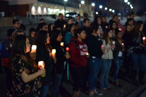 'Brown Lives Matter:' Students hold vigil for Latino/a lives