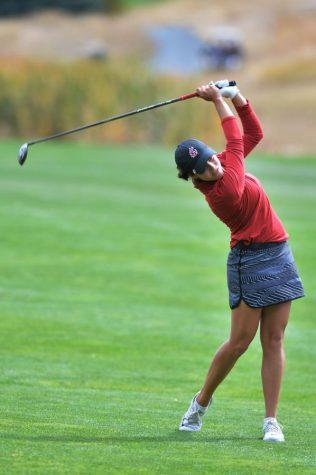 WSU women's golf is tied for ninth