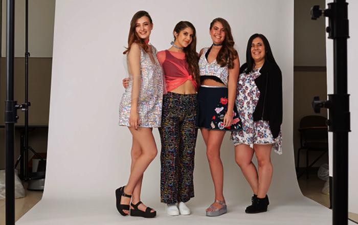 Samantha Handwerger's AMDT fashion show collection,