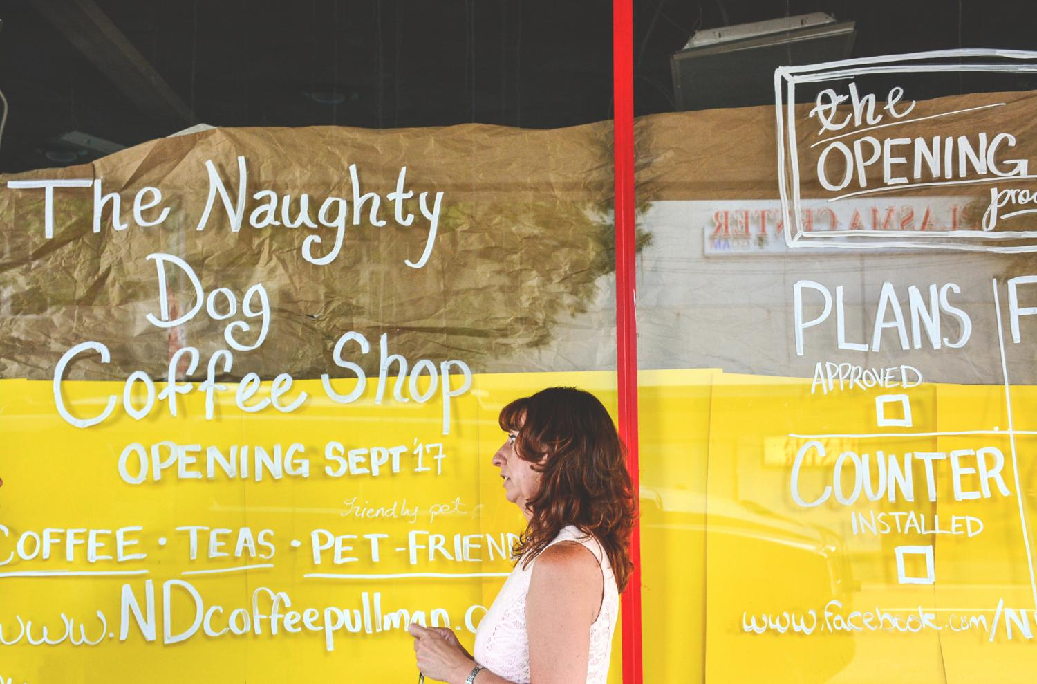 Co-owner Andrea Tubens talks about her business plans and pet-friendly ideas for The Naughty Dog Coffee Shop.  The shop-dog is an English bulldog named Venus, who will be at the shop for anyone to stop by for a friendly hello.