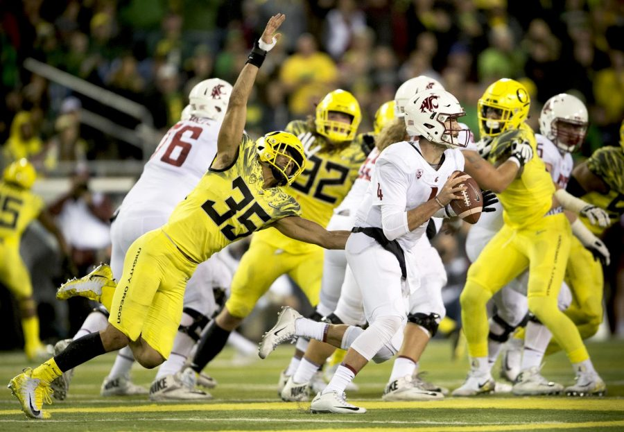 The No. 13 Oregon Ducks are the top Pac-12 team in week eight