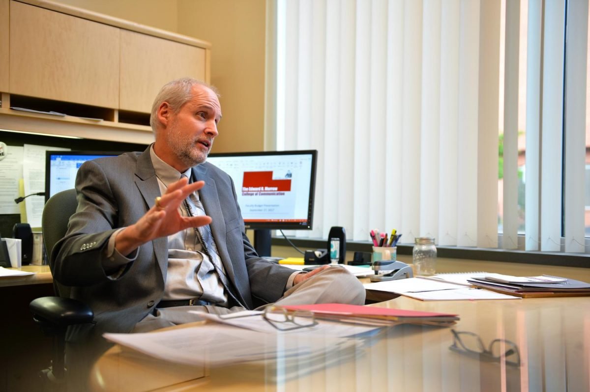Bruce Pinkleton discusses his position as interim dean for the Edward R. Murrow College of Communication.