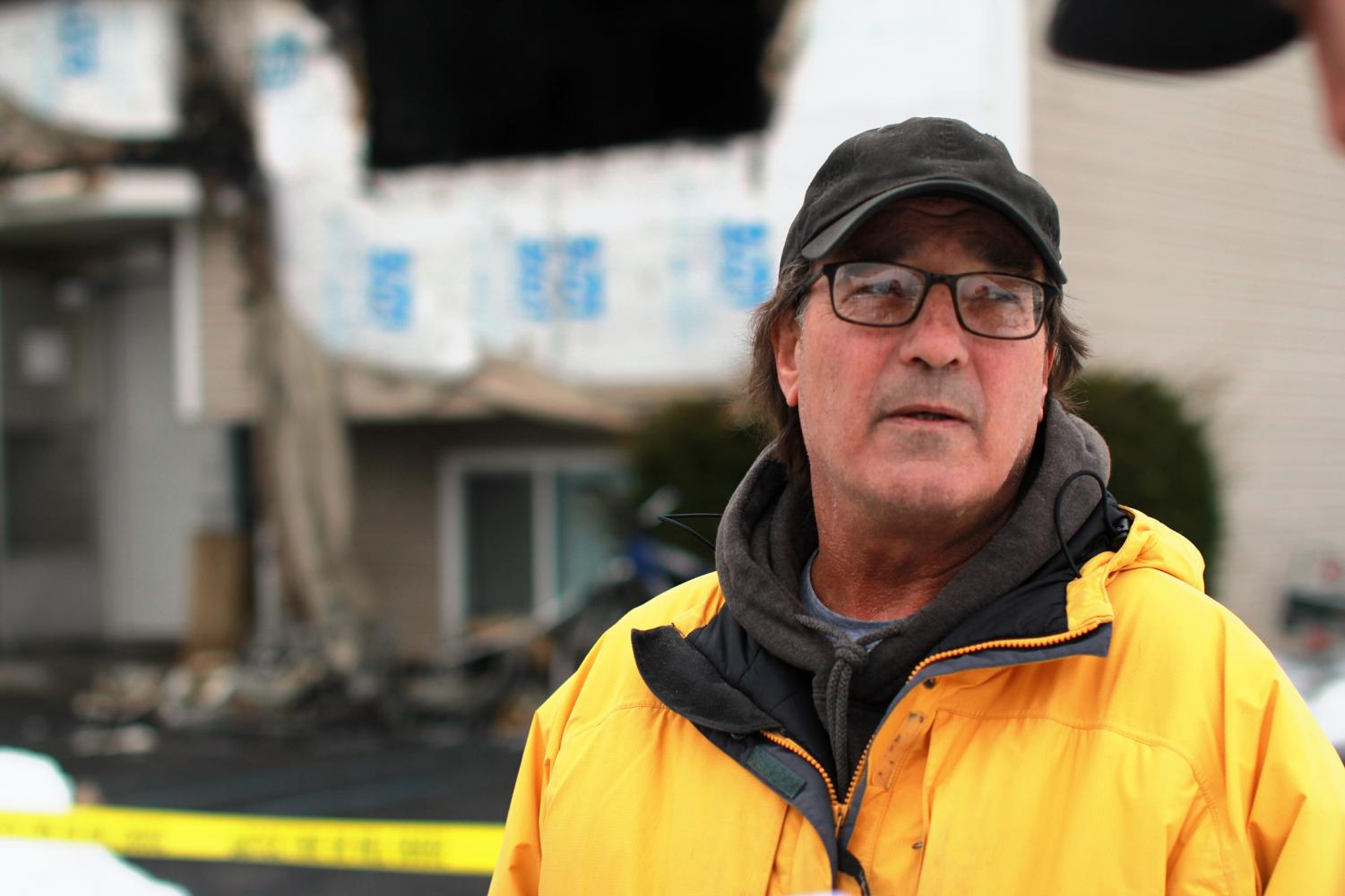 Sojourner's Alliance director Steve Bonnar says residents displaced by the fire that broke out early Monday morning are currently staying in a hotel.  The residents left with only what they could carry, and have not been able to return to collect more of their belongings.
