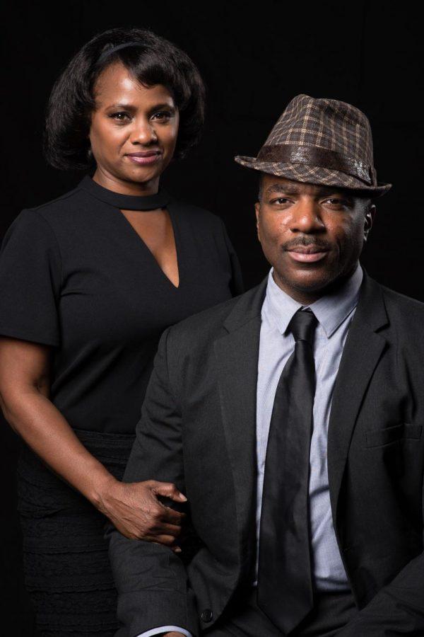 "Actors Karen Malina-White and Gilbert Glenn-Brown star in ""The Mountaintop."""