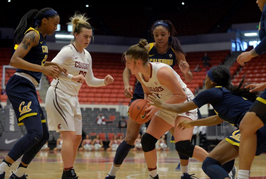 Then+senior+forward+Ivana+Kmetovska%2C+right%2C+fights+off+multiple+Cal+defenders+during+a+game+%0Aon+Jan.+29%2C+2017+at+Beasley+Coliseum.+WSU+won+the+game+84-79.+