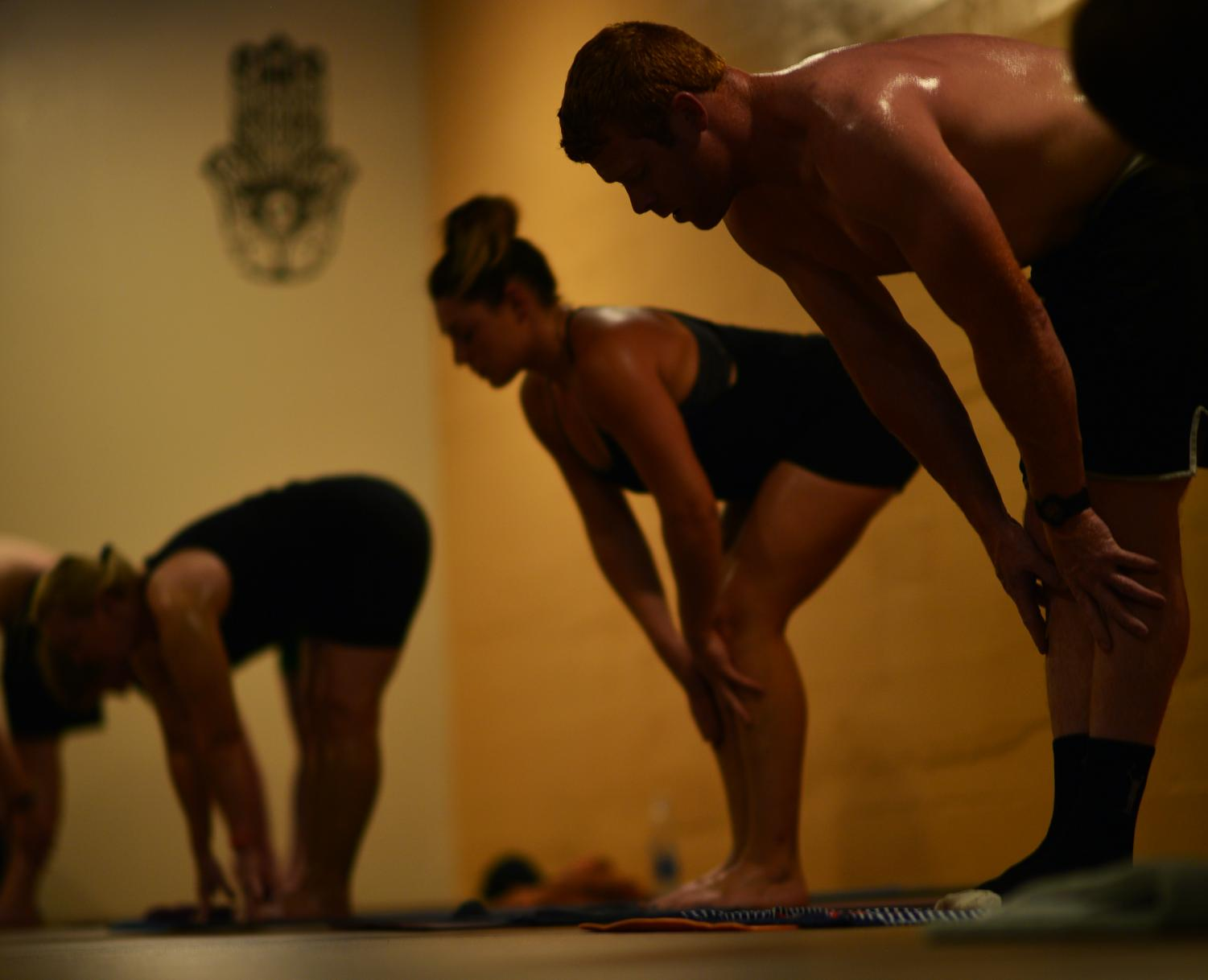 Hot yoga at Sanctuary Yoga involves posing in extremely hot, humid conditions.