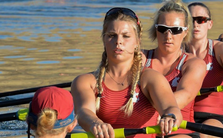 WSU rowing competes in the Grand Finals of the San Diego Crew Classic in San Diego, California on Sunday.