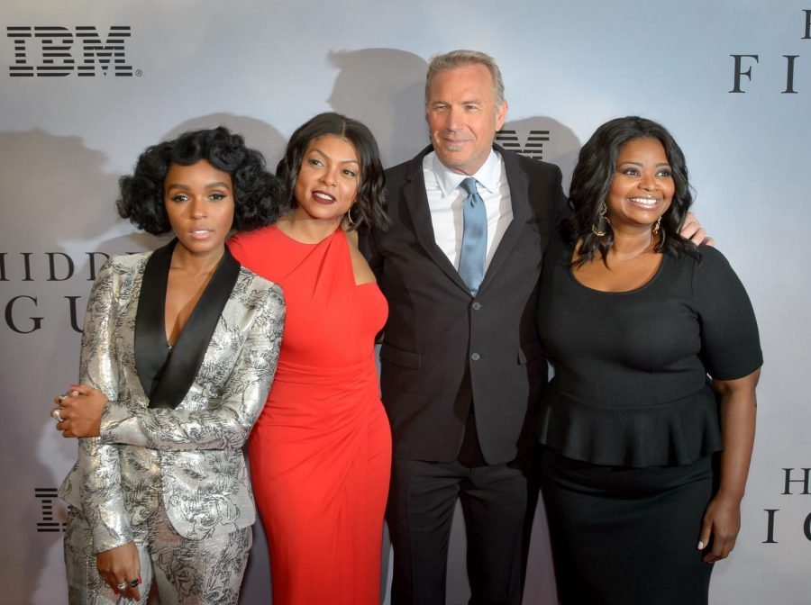 From+left+to+right%3A+Actors+Janelle+Monae%2C+Taraji+Henson%2C+Kevin+Costner+and+Octavia+Spencer.