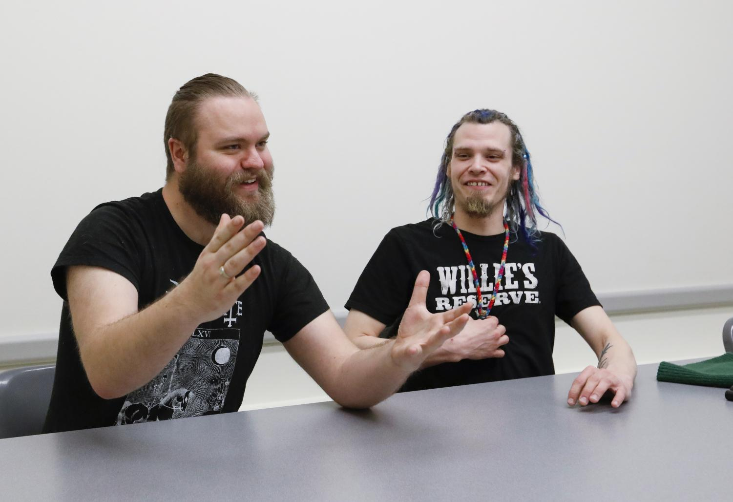 Dax Taylor, right, president and creator of 420 Union, and Karl Howell, music and merchandise manager of Weedstock, talk about the hardships they faced while creating the event and what to expect this coming weekend.