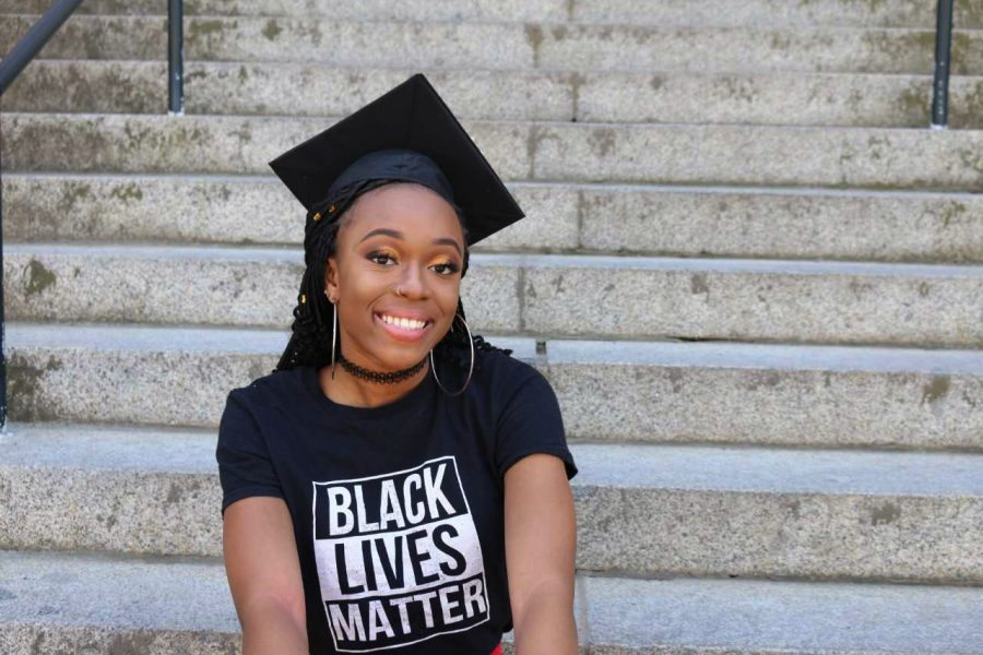 Chijioke Emeka, a graduating basic medical sciences student who has been president of the Black Student Union for a year and a half, spent her time at WSU advocating for her fellow black students.