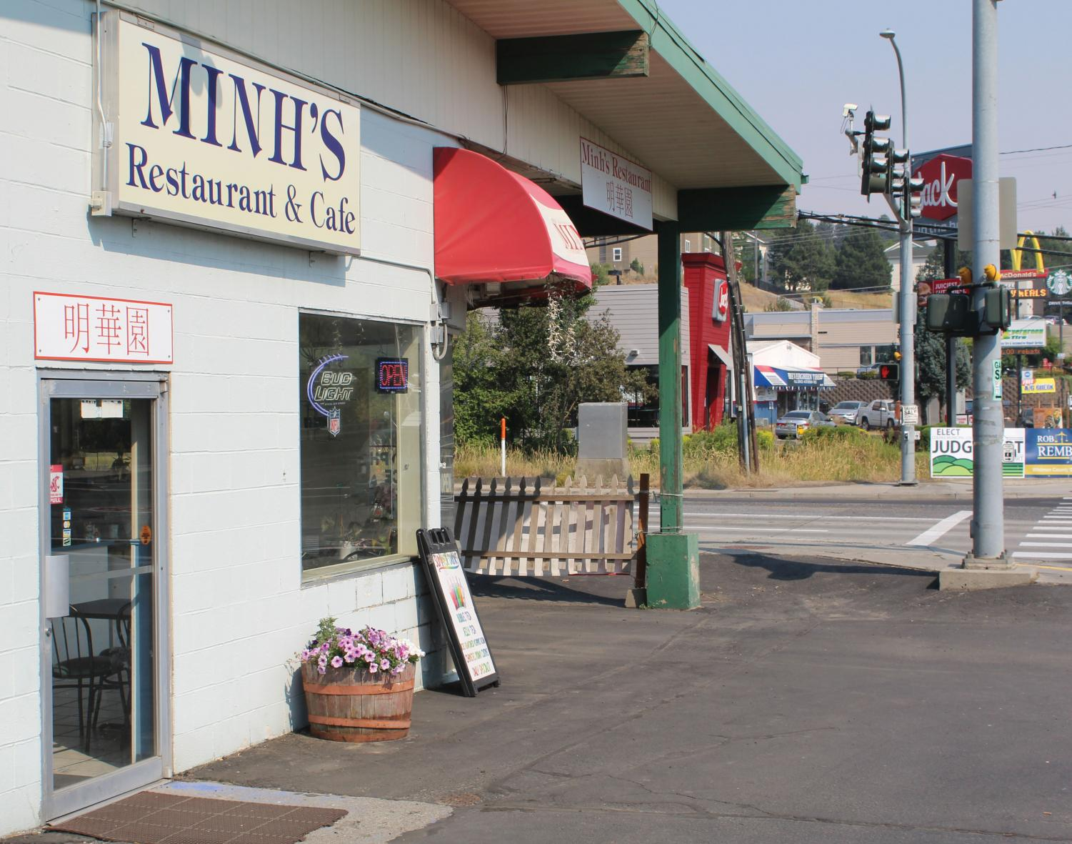 Minh's Restaurant, on the corner of Stadium Way and Grand Avenue, offers a wide variety of Asian cuisine at reasonable prices for the average college student.