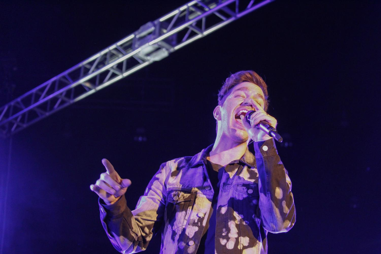 "Andy Grammer performs for WSU's Dad's Weekend as an extension of The Good Parts Tour to promote his new album and single ""Smoke Clears."""