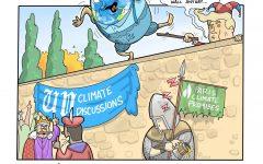Editorial Cartoon: Humpty Dumpty's environmentally catastrophic fall