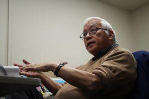 Prof. Raymond Quock talks drugs on Jan. 24 in Johnson Tower.