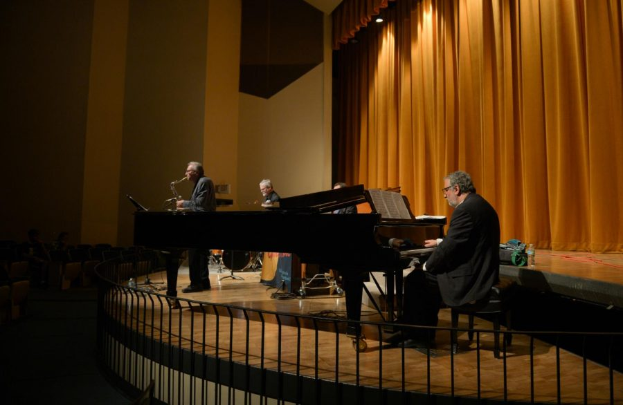 Percussionist David Jarvis and Saxophonist Greg Yasinitsky play on Tuesday, Sept. 12, 2017 at Kimbrough Concert Hall. Several of the concerts in the Festival of Contemporary Art Music will take place at Kimbrough. Admission is free.