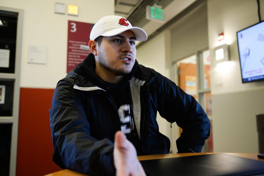 Isaac Castaneda, senior political science major and participant in the mock trials, says these experiences are helping him learn what it is like to be an attorney and what it looks like to be in a professional setting Friday afternoon in the CUB.