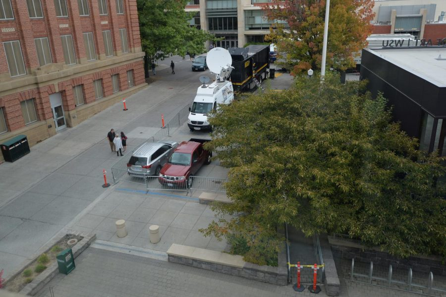 ESPN crew blocks accessibility parking spots