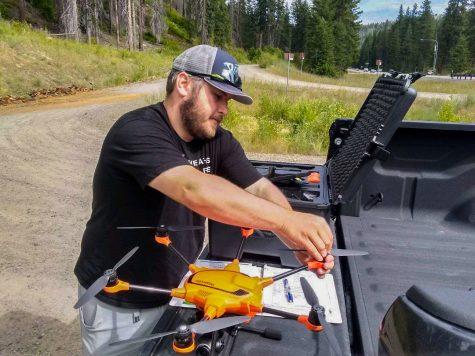 Grad student uses drones to study salmon