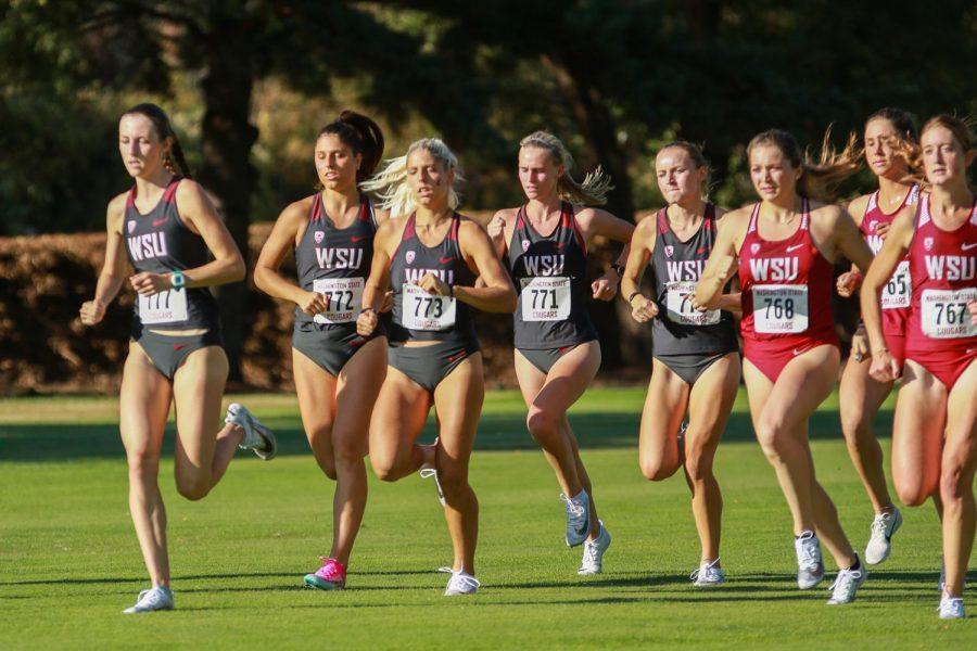 The+WSU+women%E2%80%99s+team+runs+the+4k+race+at+the+WSU+Open+on+Aug.+30+at+the+Colfax+Golf+Course+in+Colfax%2C+Washington.