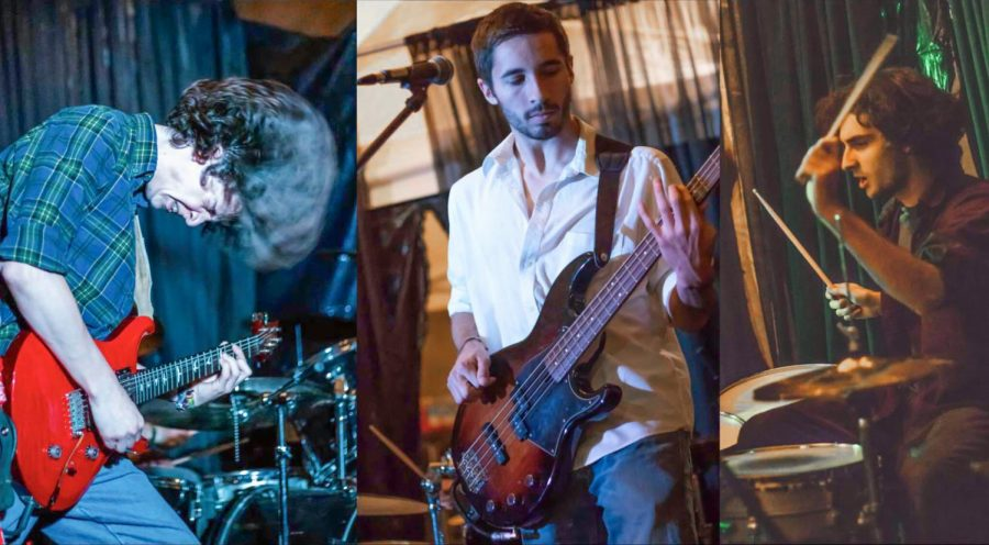 Grant+Howard%2C+left%2C+plays+bass+for+Rice%2C+a+local+band+formed+in+2017.+Ryan+McKinley%2C+center%2C+joined+as+a+guitarist%2C+vocalist+and+lyricisit+for+the+band.+Drummer+Carson+Garland%2C+right%2C+says+Rice%E2%80%99s+music+includes+songwriting+similar+to+John+Mayer%2C+but+incorporates+both+reggae+and+rock+music.+Their+music+is+available+on+ricetheband.com.