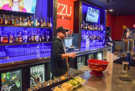 Former ZZU Manager Skyler Cracraft tends to the bar at the ZZU Club and Grub bar in February 2018.