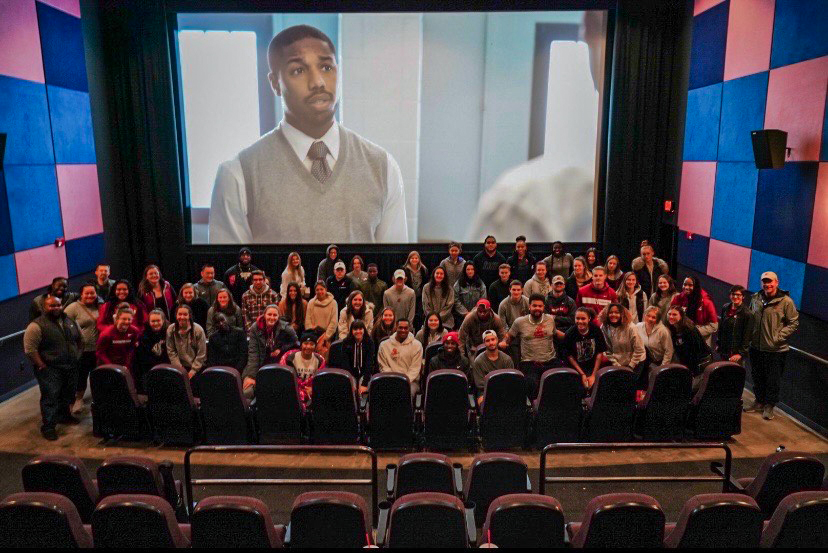 "The Black Student Athlete Association would screen movies, like ""Just Mercy"" before COVID-19 Now they meet via Zoom to provide connections among student athletes."