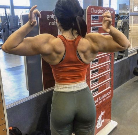 Nadya Islas spends about four hours a day in the gym in addition to at-home workouts. She won first place in a national competition after training with her bodybuilding trainer for two years.