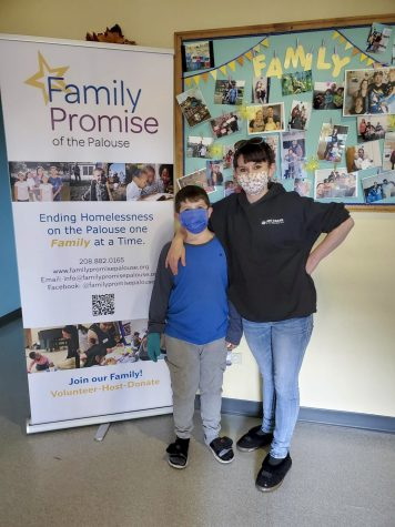 A mother and son, pictured right, graduated from the Family Promise of the Palouse's shelter program last month. Two more families will be admitted to the program.