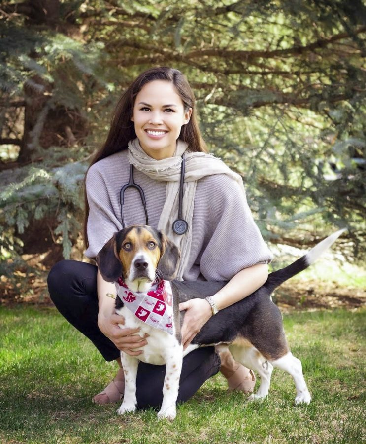 Kim Layne has used her Miss Idaho USA title to work with causes she is passionate about, such as her involvement in giving veterinary treatment to homeless individuals' pets.