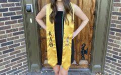 Miranda Gooler, senior advertising major, led potential WSU sorority members through recruitment as a Rho Gamma.