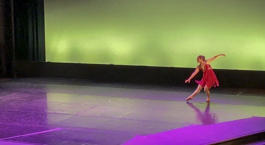 Sophia Rassch performs a ballet