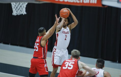 Junior guard Myles Warren shoots the ball during the game against Utah on Jan. 21 at Beasley Coliseum.