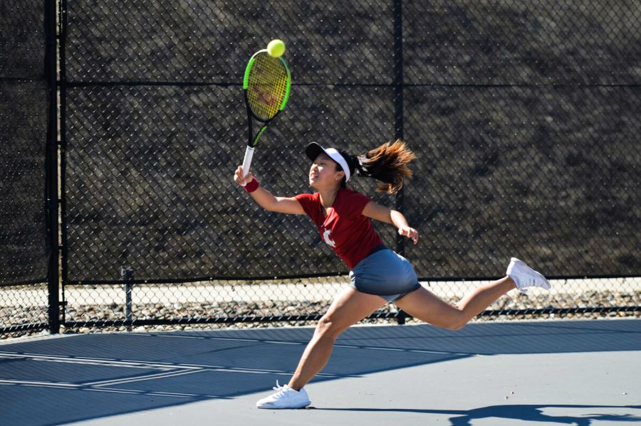 Junior Savanna Ly-Nguyen is undefeated in singles play so far this season with seven wins.