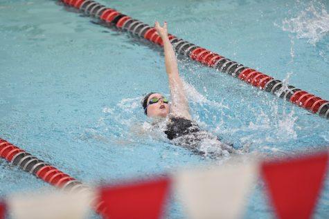 Freshman Kiana Swain earned 15 points in the swim meet against the University of Utah on Jan. 15, 2021 in Gibb Pool.