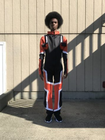 Designer Brandon Dunbar said his brother modeled his collection.