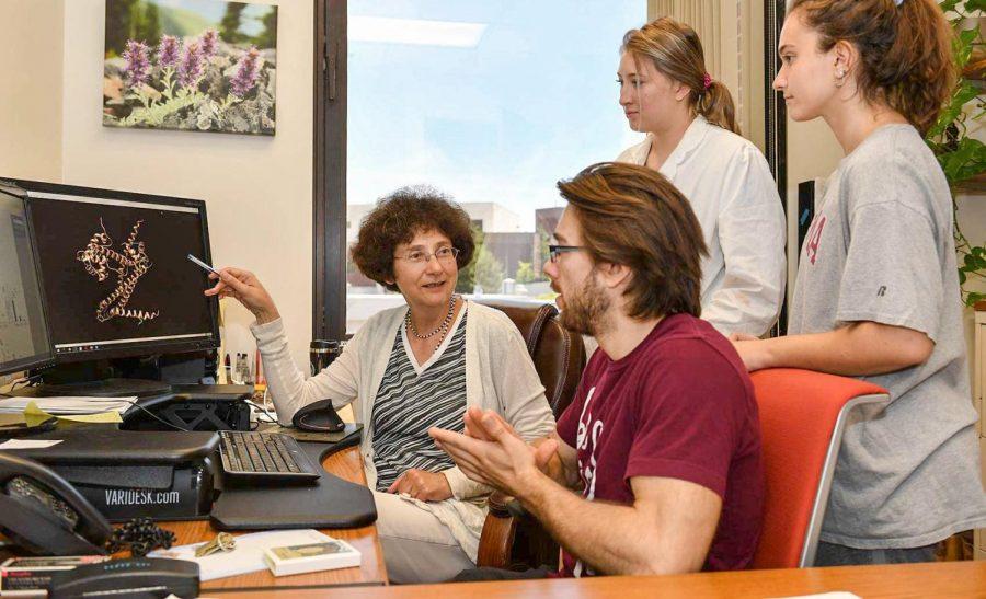 Pictured is Co-Principal Investigator Alla Kostyukova with students. Kostyukova serves as one of three Co-PI's for WSU's MARC program.