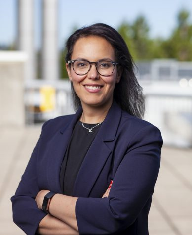 Leen Kawas, pictured here, got her doctorate in molecular pharmacology from WSU in 2011.