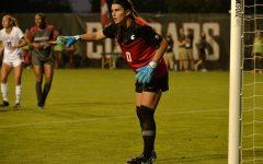 WSU goalkeeper Marissa Zucchetto guards her goal Sept. 9, 2021, at the Lower Soccer Field.