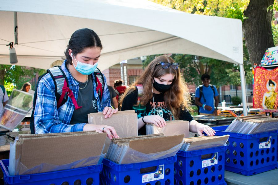 At Terrell Mall, students browse through bins of posters, hoping to find a hidden gem to decorate their dorms and apartments.