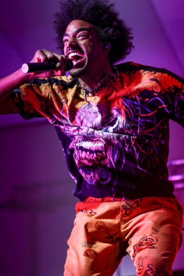 Tai Verdes performs at the CUB Senior Ballroom on Oct. 11, 2021, in Pullman.