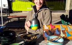 Kassie Smith sells functional wares at the Moscow Farmers Market.